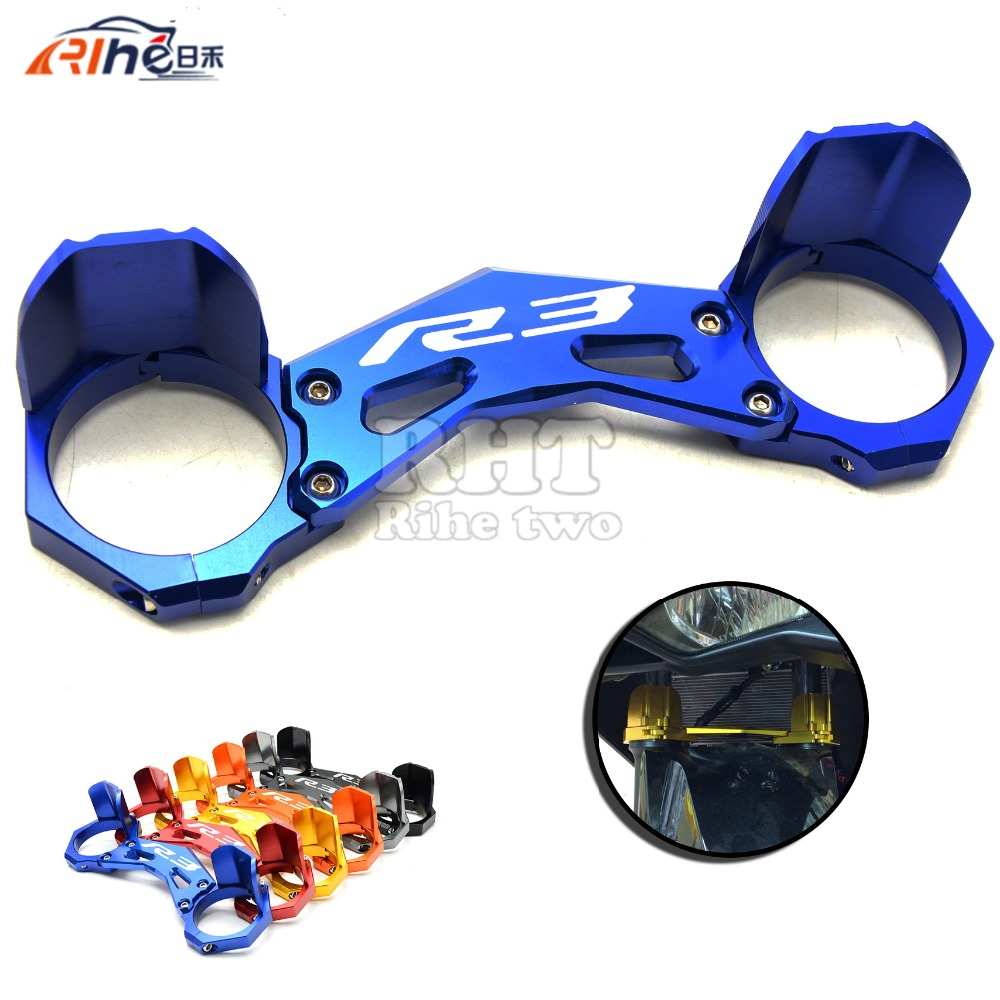 motorcycle carrying fork holder mounting frone fork bracket damping anti friction protect for yamaha yzf r3