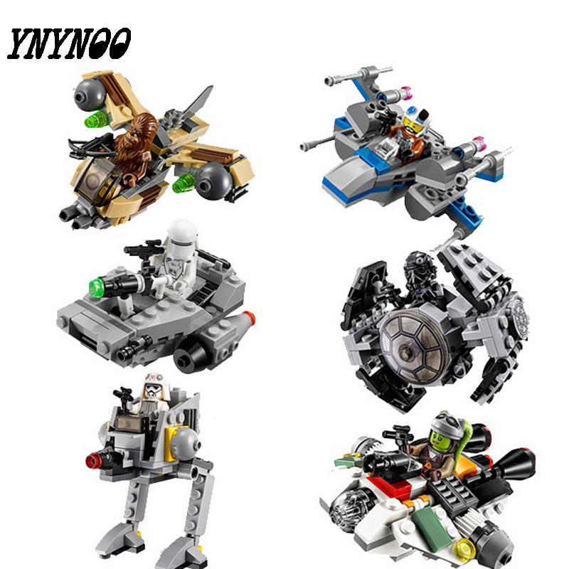 (YNYNOO)2017 Hot Sale 1pcs StarWars Blocks Micro Fighters Clone Wars Spaceship Classic Compatible Starwars Fighter