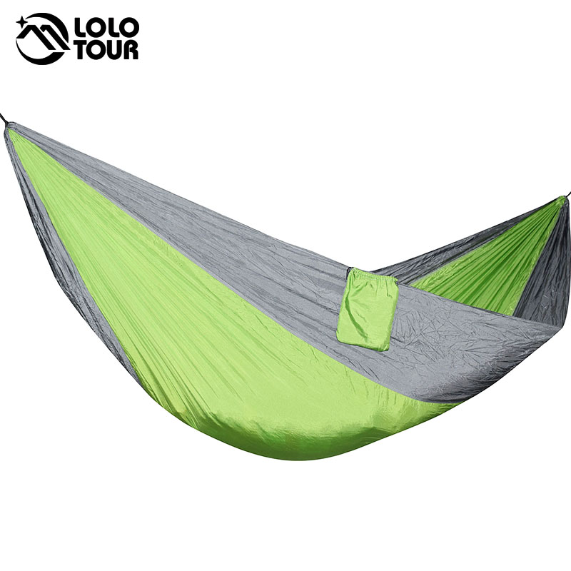 300*175cm 2 People Big Parachute Hammock Garden Swing Hamaca Double Camping Hammock Tent 118*68 Inch Survival Sleeping Hamak 2017 2 people hammock camping survival garden hunting travel double person portable parachute outdoor furniture sleeping bag