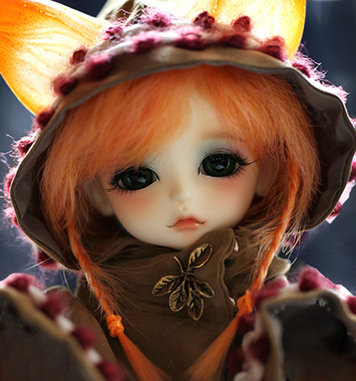 1/8 scale BJD about 15cm pop BJD/SD cute kid human Lea Fox Resin figure doll DIY Model Toy gift.Not included Clothes,shoes,wig