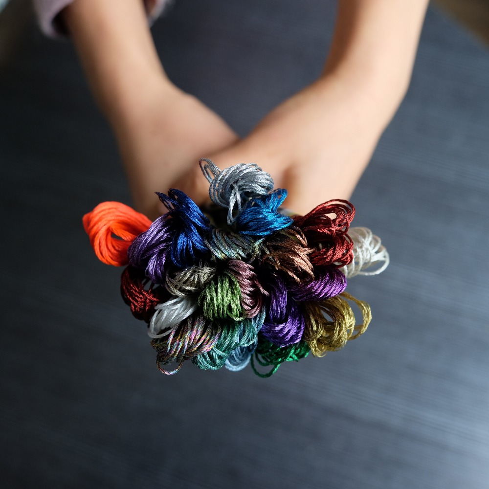 100 best Shiny OASIS Metallic Solid Hand Embroidery Thread Skeins Vibrant colors