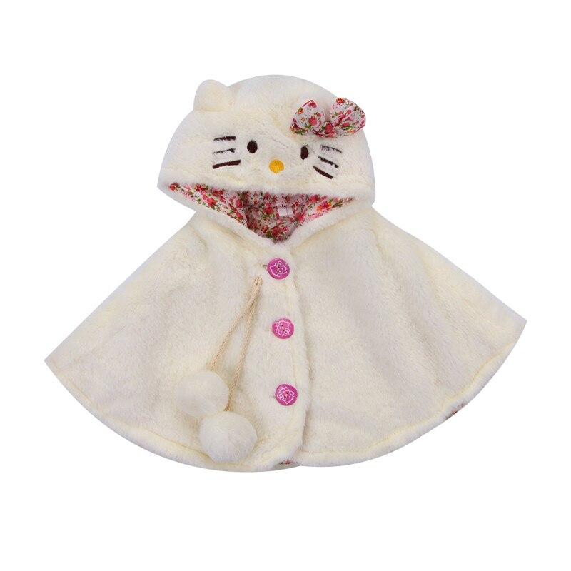 Hot Baby Clothing Cute Cat Hooded Cloak Poncho Jacket Outwear Winter Warm Coat Costume Cape Shawl