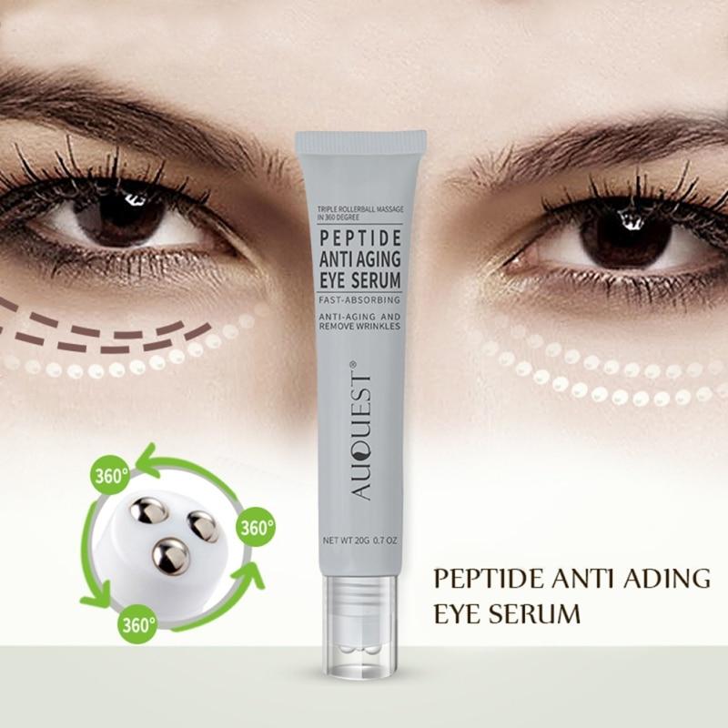 New Anti Aging Eye Serum Moisturizing Lifting Anti-Puffiness Hyaluronic Acid Remove Wrinkles Beauty Skin Care