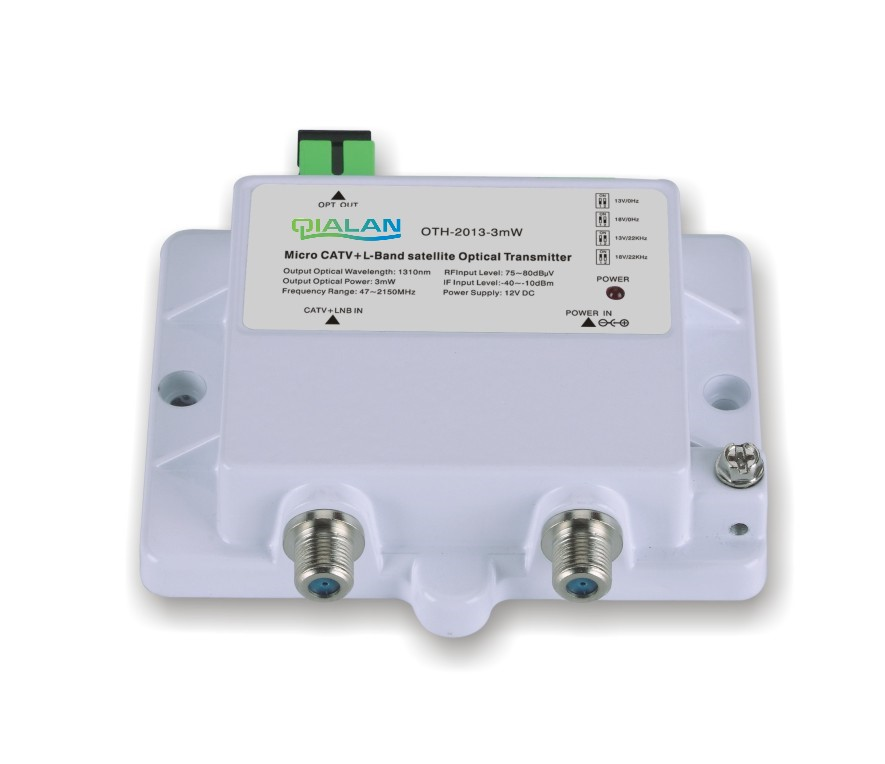 FTTH CATV+STA-IF Micro Optical Transmitter OTH-2013-3mW 47-2150MHz 1310nm Single Mode 12V DC Micro Optical Transmitter