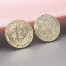 Gold  Silver Copper Bronze Antique Color Bitcoin Coin