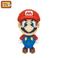 LOZ Super Mario Bros здание алмаз Конструкторы 17 см большой Размеры 1350 шт. Рисунок Игрушки для возраста 14 + официальный уполномоченный 9040