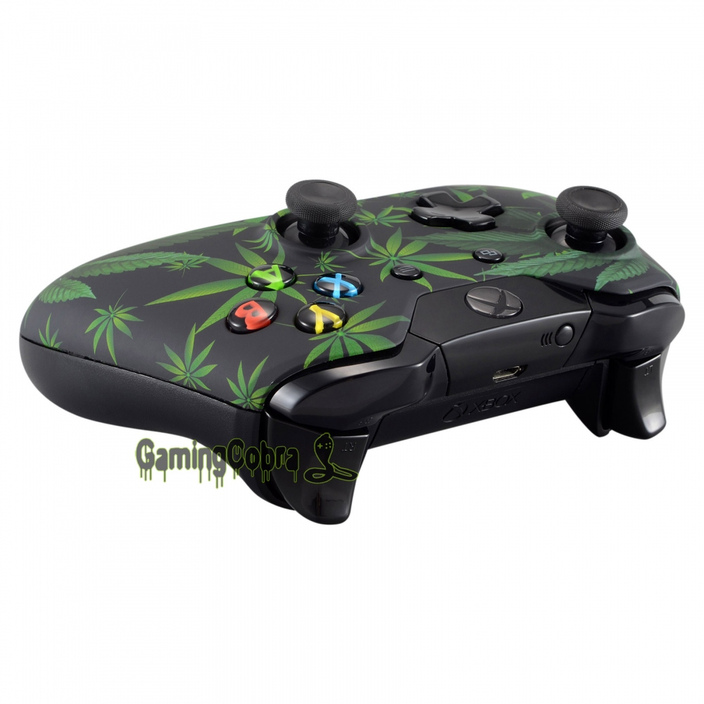 US $9 99 |Customized Green Weeds Repair Part Front Shell Faceplate for Xbox  One Controller-in Cases from Consumer Electronics on Aliexpress com |