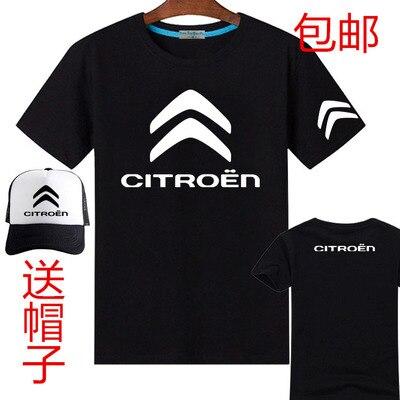 fcf1784386 4S loja citroen impressão curto de mangas compridas T shirt camisa de T dos  homens do sexo feminino incluem boné de beisebol chapéus em Camisetas de  Dos ...