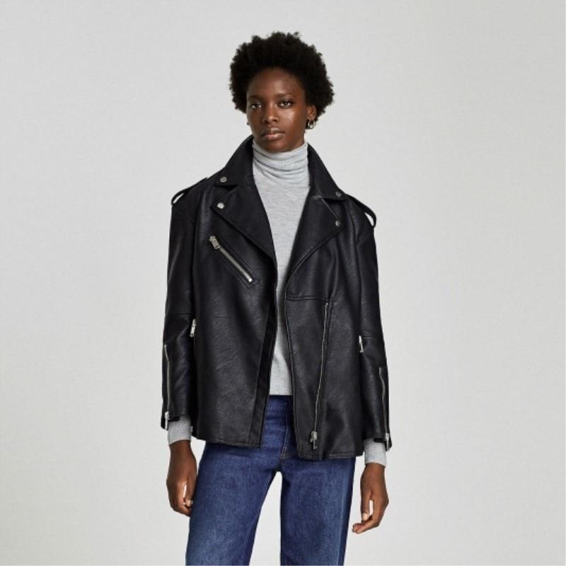 Image 4 - Max LuLu Luxury European Brand Girls Moto Clothes Womens Faux  Leather Jacket Winter Warm Fur Chaqueta Mujer Woman Pu Biker  CoatLeather Jackets