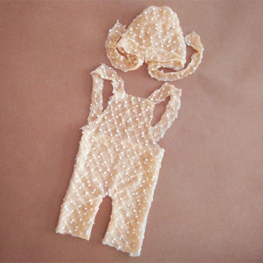 Vintage Style Baby Girls Rompers Newborn Knit Romper And Bonnet Hat