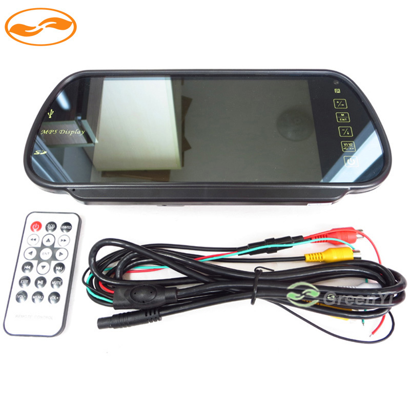 Color TFT LCD MP5 Car Rear View Mirror Monitor Auto Vehicle Parking Rearview Monitor SD USB FM Radio for Reverse Camera