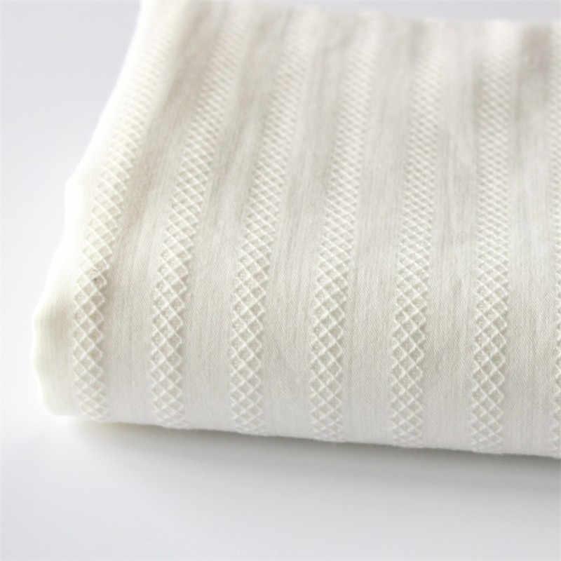 Tela bordada hueca de algodón de alto conteo de algodón blanco tela bordada vestido ropa telas anchos 150cm HG01