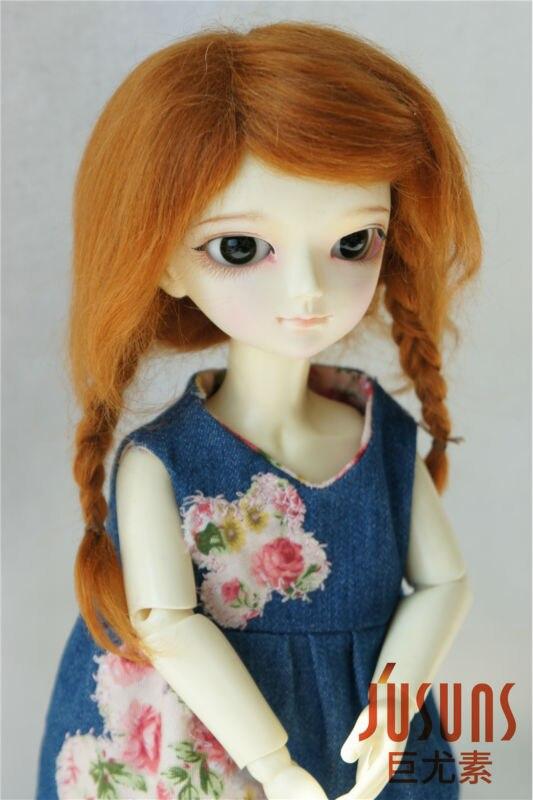 1/6 Mohair doll wigs  Lati Green BJD wig The braid wig  6-7inch YOSD doll accessories Resin and Porcelain BJD hair