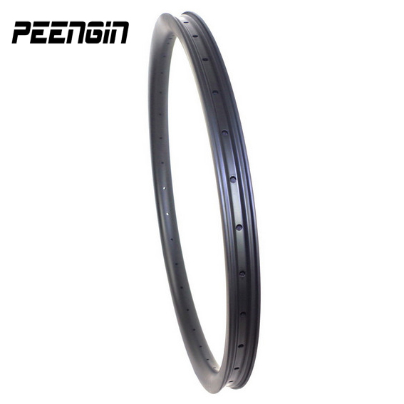 купить Fast shipping!All mountain ruote mtb 26er carbon rim 26inch wheel 35X25mm clincher hookless tubeless easy install tyres designed недорого