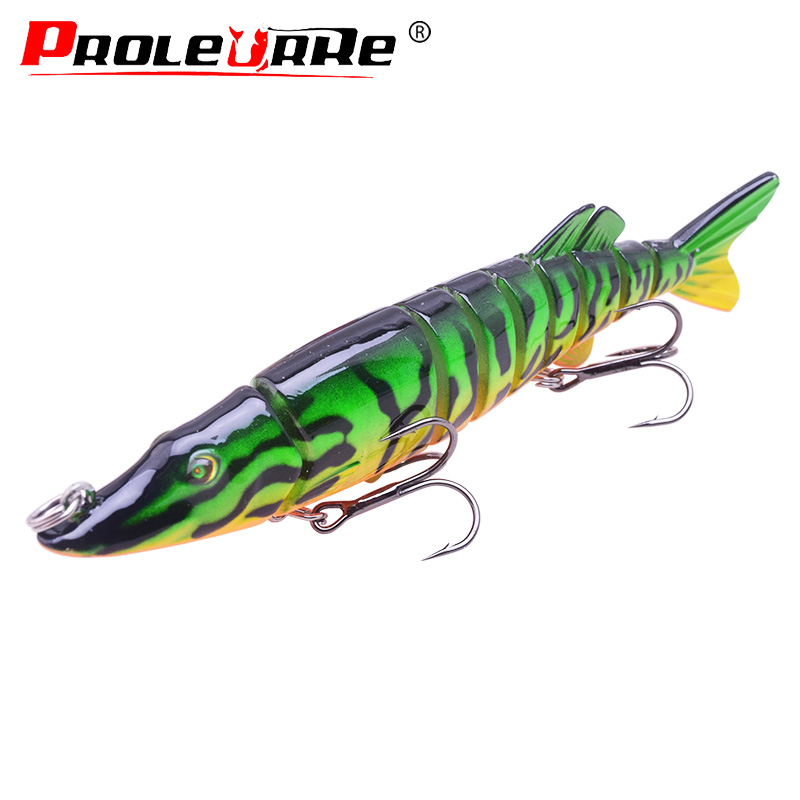 1Pcs Wobblers Swim bait 9 Sections Jointed 12.5cm 22.5g bait Realistic Carp Fishing Lure Crankbait Isca Pesca Fishing Tackle
