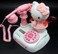 Классический Телефон Телефон Hello Kitty Милый Мультфильм Мастерство Телефон Ретро Моды Принцесса Телефон Розовый