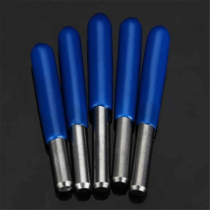 """5 יחידות 3.175 מ""""מ Shank 0.1 מ""""מ 15/20/30/45/60 תואר חריטת פלדת טונגסטן Bits CNC כלי חדש"""