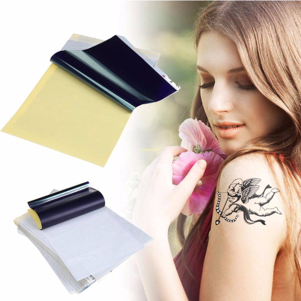 4 Layers A4 Tattoo Transfer Paper Stencil Carbon Thermal Tracing Hectograph thermal cash register paper printing paper white 80mm