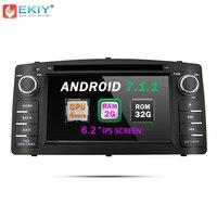 EKIY Android 7,1 автомобильный мультимедийный плеер для Toyota Corolla E120 BYD F3 2din 4 ядра DVD gps стерео радио рулевое колесо Управление