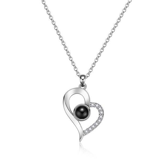Фото женское ожерелье с кулоном i love you украшение на день рождения