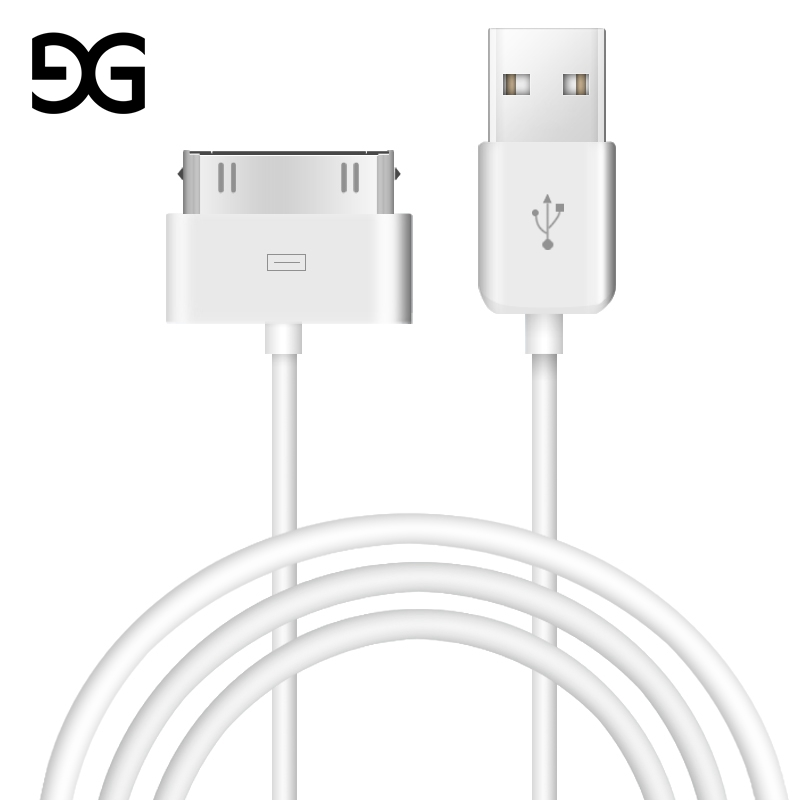 GUSUG USB Cable Fast Charging for iPhone 4 s 4s 3GS 3G iPad 1 <font><b>2</b></font> 3 iPod Nano itouch 30 Pin original Charger adapter Data Sync cor image