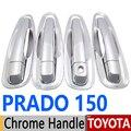 For Toyota Prado 150 Lexus GX460 Chrome Door Handle Covers Trim Set of 4 Door LC150 J150 FJ150 2010-2017 Accessories Car Styling