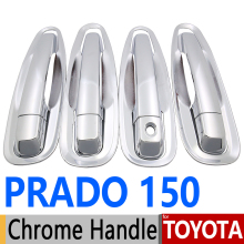 For Toyota Prado 150 Lexus GX460 Chrome Door Handle Covers Trim Set of 4 Door LC150 J150 FJ150 2010-2017 Accessories Car Styling