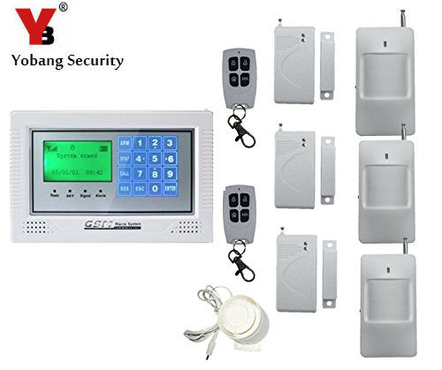 Yobang Security GSM Alarm System With SMS Call Alarm GSM Alarma English Russian Wireless Door Sensor PIR Infrared Motion Alarm wireless service call bell system popular in restaurant ce passed 433 92mhz full equipment watch pager 1 watch 7 call button