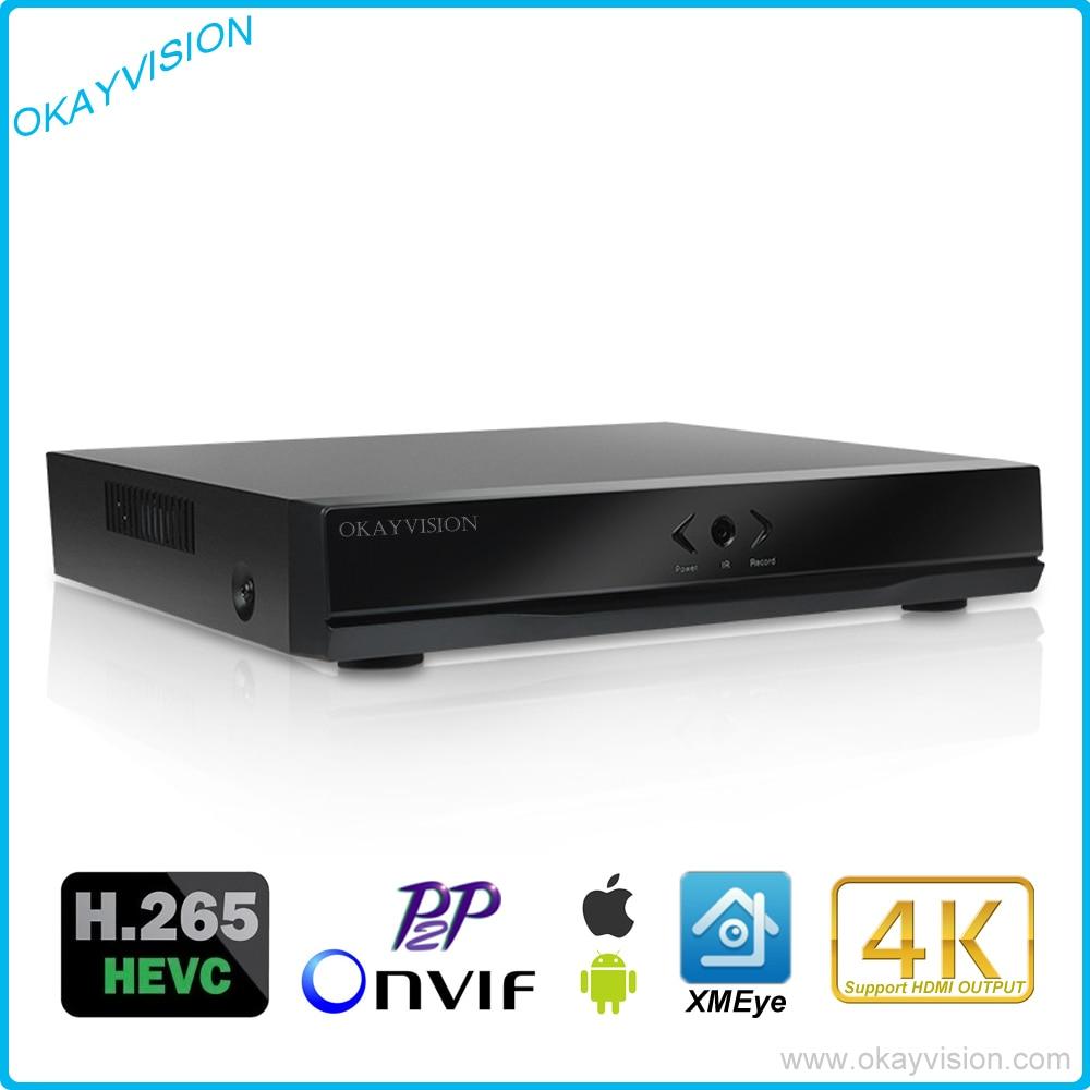 ФОТО 4CH/8CH H.265 P2P Onvif 5MP Network Video Recorder for H.265/H.264 IP Cameras,FULL HD 4K HDMI OUTPUT H.265 NVR Service XM xmeye