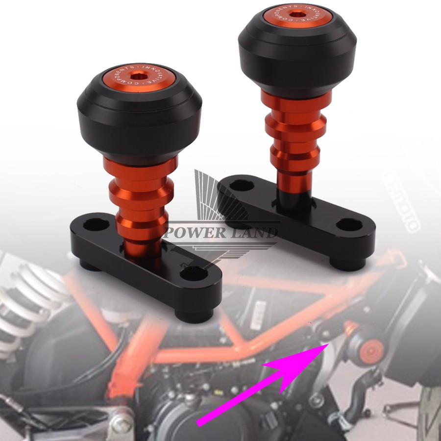 1pair Motorcycle Frame Sliders Crash Protector Sturzpad Crashpads For KTM DUKE 125 200 390 2011 2012 2013 2014 2015 2016 image