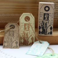 High Quality Vintage Tag Rubber Stamp 7 2 3 5cm Carimbos Wooden Scrapbooking Rubber Stamps Carimbo