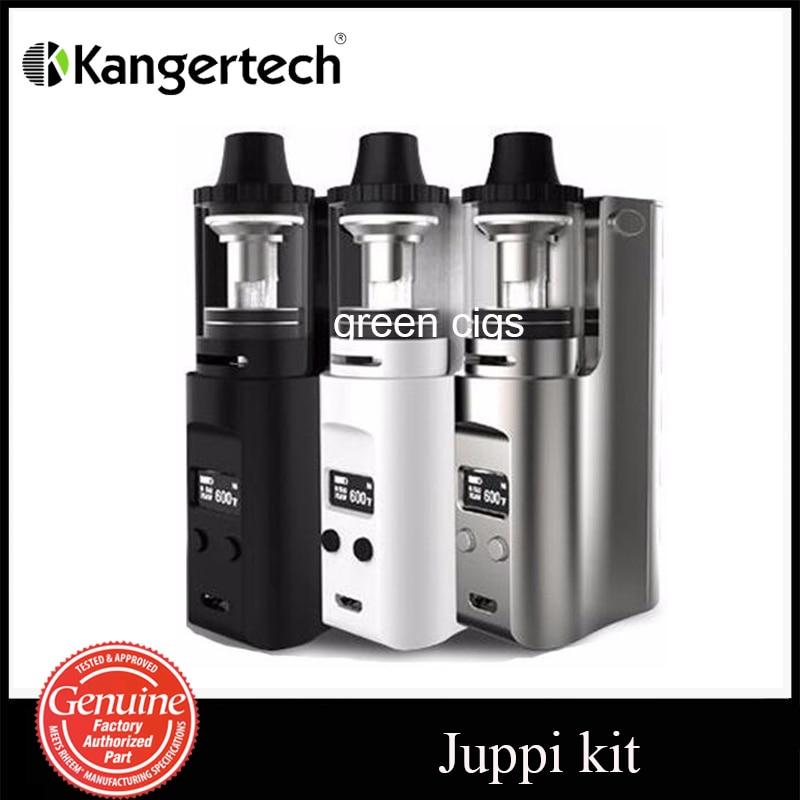Original Kanger Juppi Starter Kit with Juppi TC Box Mod Top Fill Design 3ml Juppi Tank Symmetric Airflow Slots kvp lover 120w tc box mod kit