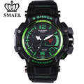 SMAEL Fashion Sports Brand Watch Men's Digital Shock Resistant Quartz Alarm Wristwatches Outdoor Military LED Casual Watches Hot