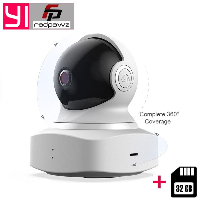YI облачная купольная камера для видеоняни и радионяни ip-камера беспроводная Wifi камера + 32 ГБ sd-карта Pan/Tilt/Zoom домашняя камера 1080 P HD ночного ви...