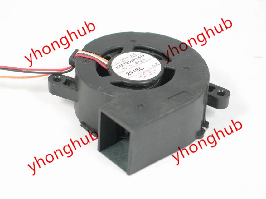 Emacro For SF6023LHH12-57P Server Projector Fan DC 12V 250MA 60x60x23mm 4-wire for avc dssc0715r2l p002 dc 12v 0 3a 4 wire 4 pin connector 100mm 70x70x15mm server square cooling fan
