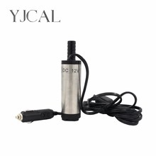 цены Vehicular Submersible Pump Diameter 38MM DC 12V/24V Motor Suction Oil Water Disel Pump Stainless Steel Cigarette Plug