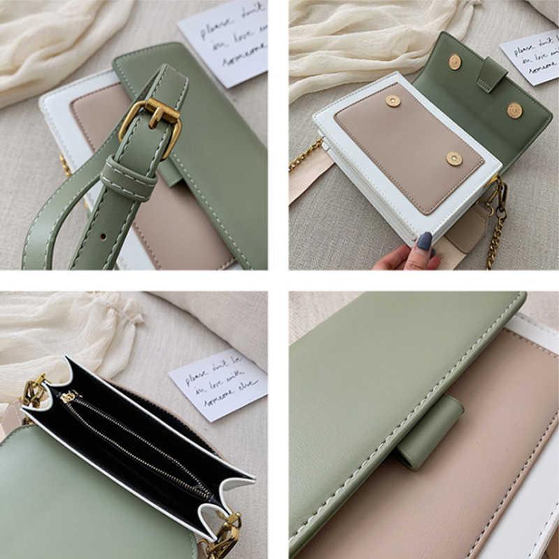 Женская мода Сумка через плечо Известная марка цепи Женская сумка Небольшая откидная крышка Сумка