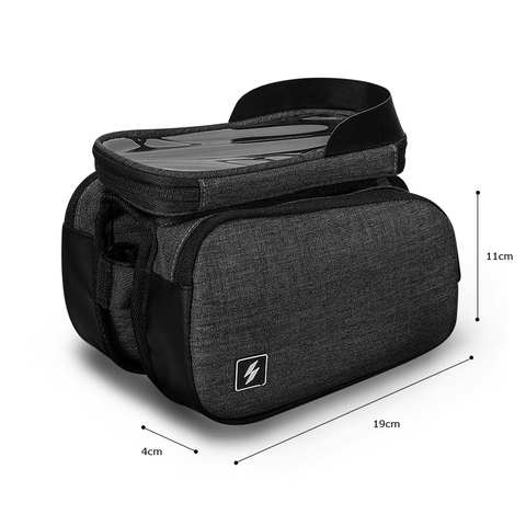 Sahoo 122007 Touch Screen Bike 6.5in Cell Mobile Phone Bag Front Frame Top Tube Cycling Pouch Double Side Bicycle Pannier Karachi