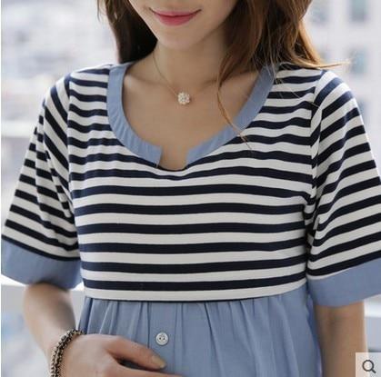 a80357e33f81d ... Breastfeeding Blouses Feeding Cotton Maternity Shirt Pregnancy Tops  Nursing Shirts Maternity Clothes for Pregnant Women TP08