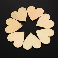 YHYS 50 Pieces Christmas Blank Wood Heart Embellishments Wood Heart Slices for Wedding,Valentine,DIY, Arts,Crafts,Card Making