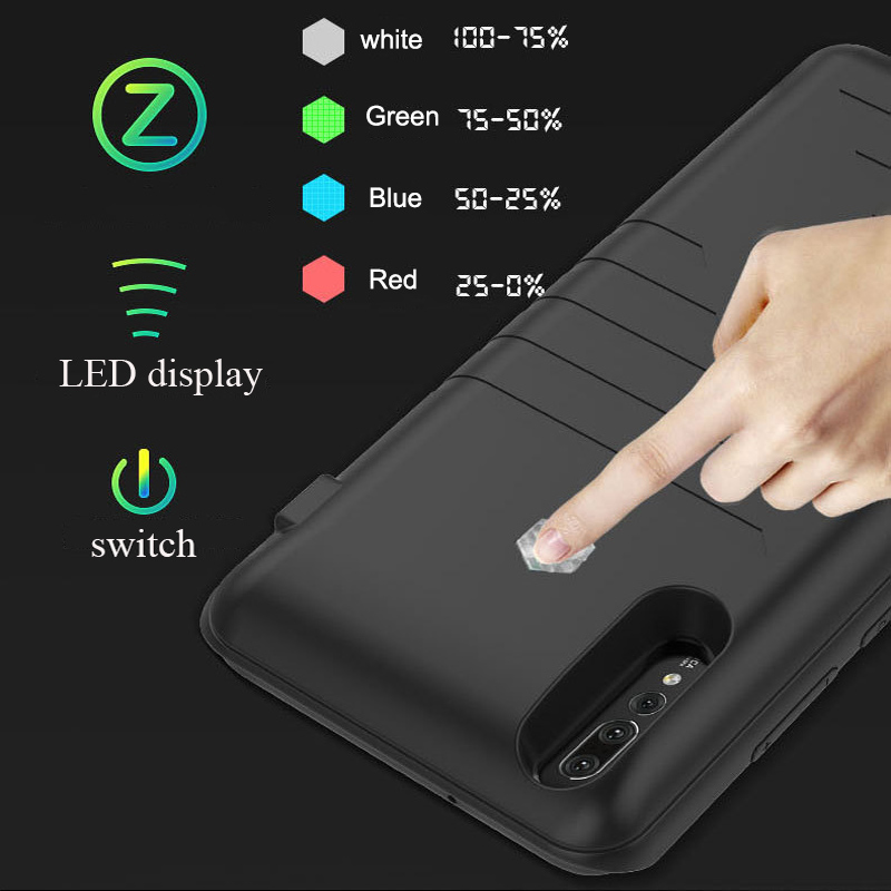 for Huawe <font><b>p20</b></font> lite <font><b>p20</b></font> pro Back up <font><b>battery</b></font> <font><b>Battery</b></font> charging phone <font><b>case</b></font> charger for <font><b>huawei</b></font> <font><b>p20</b></font> Power bank external charging cove image