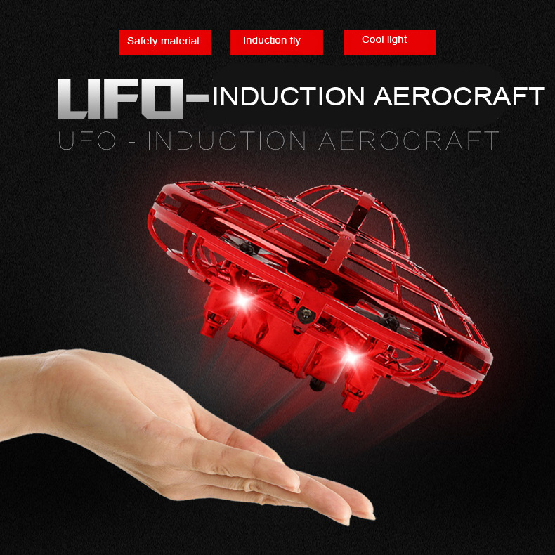 Hand Induction Flying UFO Ball LED Mini RC Drone Light Suspension Aircraft Flying Toys Balls Anti-collision For Children's Fun