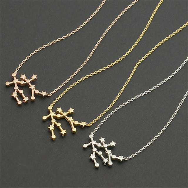 zodiac necklace gp product gemini tuxen trine jewelry
