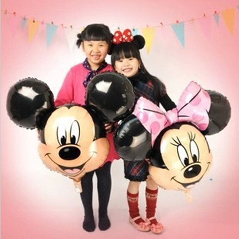 PHLUMY Free shipping aluminum balloons Minnie Mickey head balloon decorations childrens toys birthday present