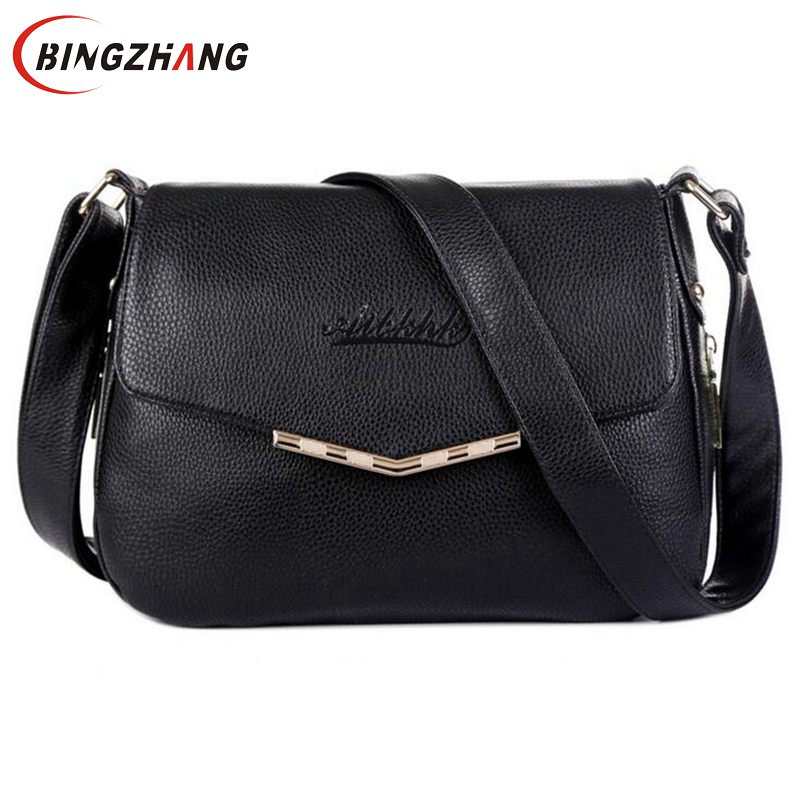 Hot Sale 2017 Fashion Women Messenger Bags Soft Cowhide Genuine Leather Crossbody Shoulder Bag For Women Ladies Handbags L4-2748