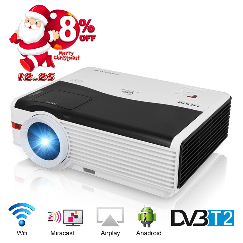 Caiwei Home Use Dvb T2 Projector Led Lcd Digital Tv: CAIWEI DVB T2 WIFI LED Projector 5000 Lumens 1280*800 For