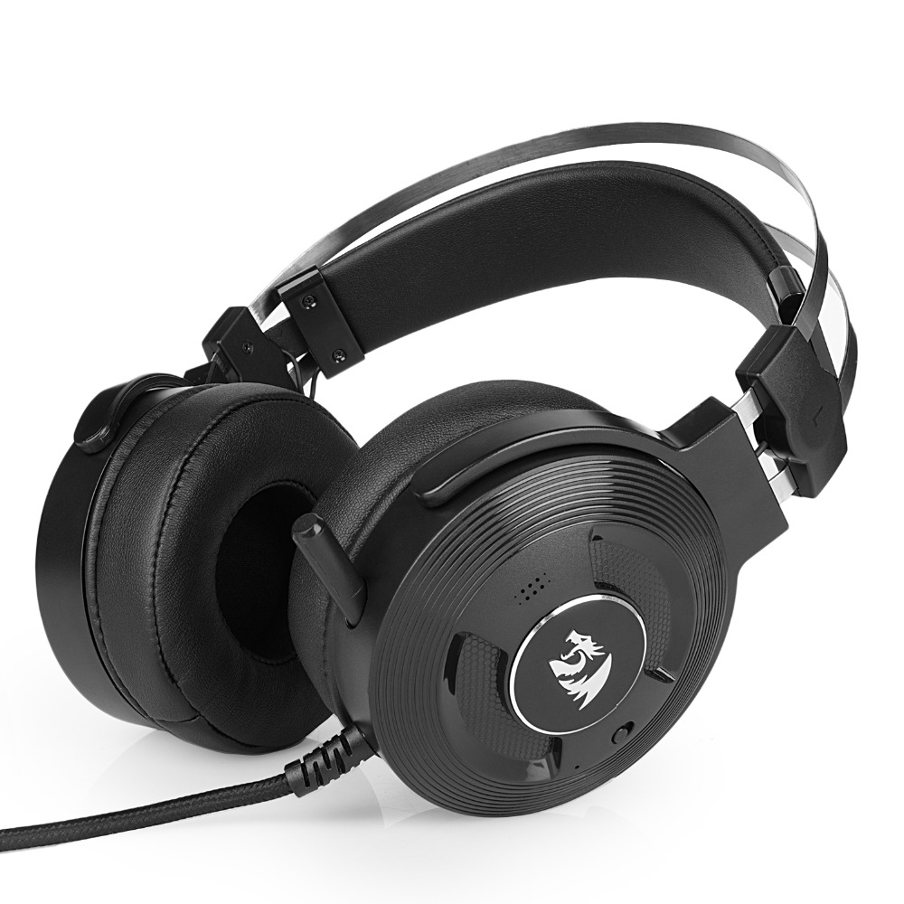 Redragon H991 TRITON Active Noise Canceling Gaming Headset 7.1 Channel Surround Stereo ANC Over Ear Headphone with Mircophone redragon h991 triton active noise canceling gaming headset 7 1 channel surround stereo anc over ear headphone with mircophone