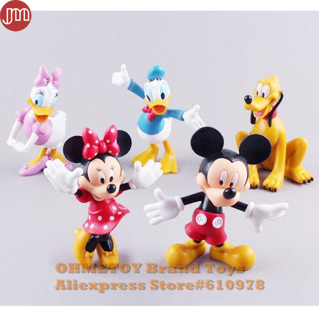 ohmetoy 5pcs mickey minnie mouse donald duck daisy pluto dog action