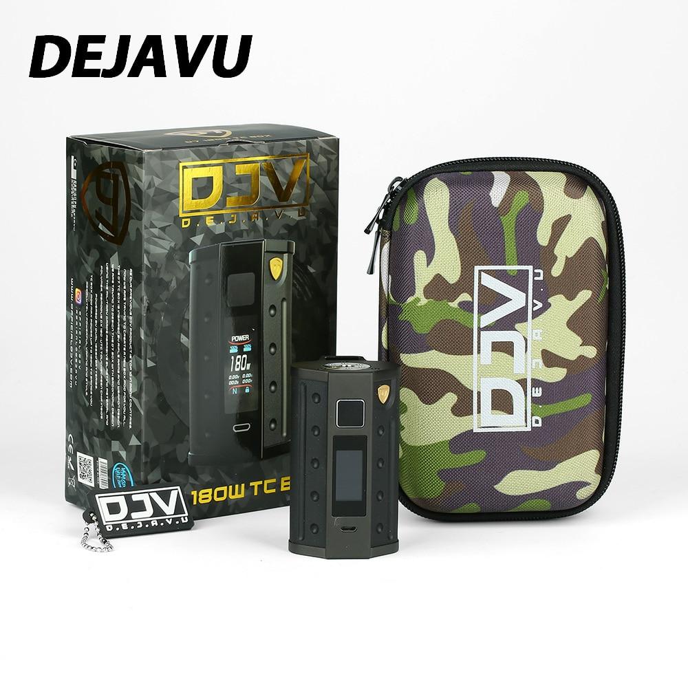 Nouveau DEJAVU DJV D7 180 W écran tactile boîte TC MOD HD écran couleur E-cigarette Mod avec GX180 UTC écran tactile puce Vs DEJAVU RDTA