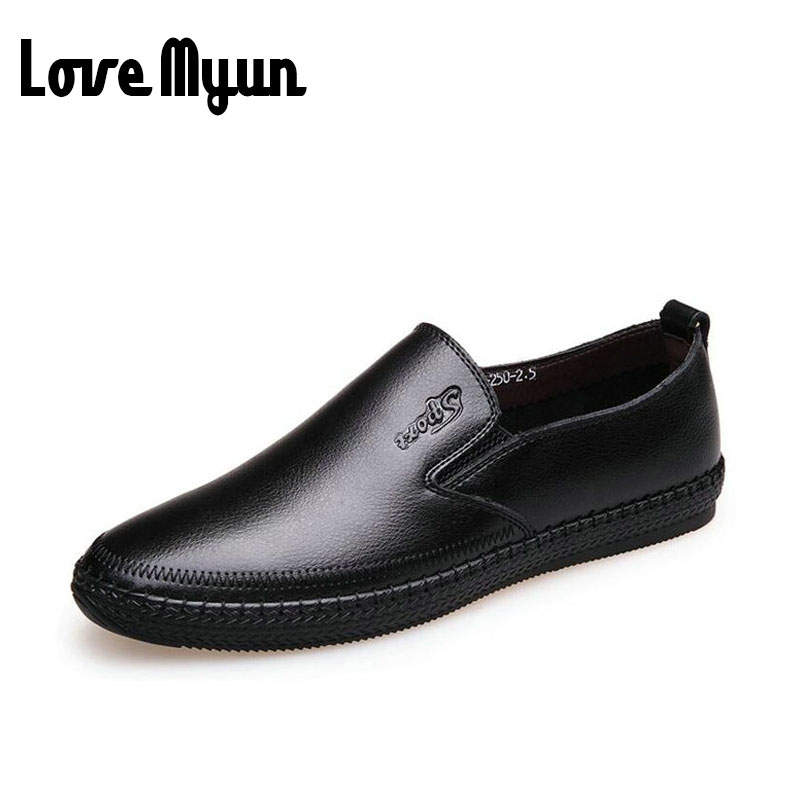 2017 brand new super soft leather men loafers shoes Genuine leather silp on Middle-aged men Loafers Driving Shoes for dad AA-69 cbjsho brand men shoes 2017 new genuine leather moccasins comfortable men loafers luxury men s flats men casual shoes